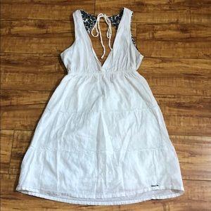 White Volcom backless sundress
